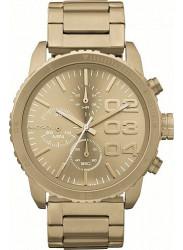 Diesel Women's Chronograph Gold Tone Dial Watch DZ5302