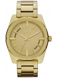 Diesel Men's Gold Dial Gold-Tone Stainless Steel Watch DZ5345