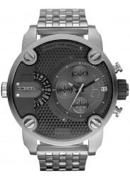 Diesel Men's Chronograph Grey Dial Stainless Steel Watch DZ7259