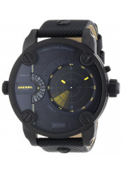 Diesel Men's Daddy GMT Black Leather Watch DZ7292