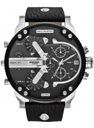 Diesel Men's Chronograph Black Dial Black Leather Watch DZ7313
