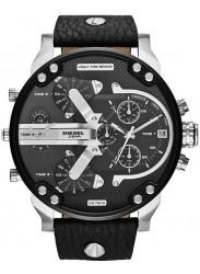 Diesel Men's Chronograph Black Dial Black Leather Watch DZ7313