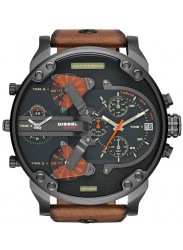 Diesel Men's Mr Daddy 2.0 Black Dial Brown Leather Watch DZ7332