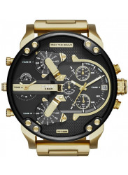 Diesel Men's Black Dial Gold-plated Stainless Steel Watch DZ7333