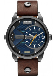 Diesel Men's Mini Daddy Blue Dial Brown Leather Watch DZ7339
