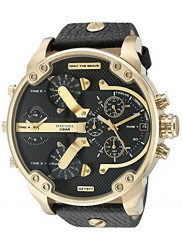 Diesel Men's Mr. Daddy 2.0 Chronograph Black Leather Watch DZ7371