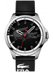 Lacoste Men's Black Dial Black Silicone Strap Watch 2010840