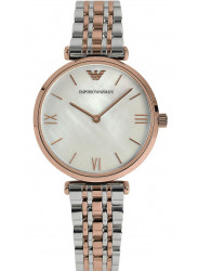Emporio Armani Women's Mother Of Pearl Dial Two Tone Stainless Steel Watch AR1683