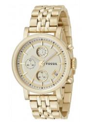 Fossil Women's Boyfriend Chronograph Gold Dial Watch ES2197