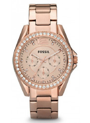 Fossil Riley Women's Rose Gold-plated Watch ES2811