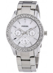 Fossil Women's Stella Mother Of Pearl Dial Silver Tone Watch ES2860