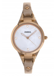 Fossil Women's Georgia Brown Leather Watch ES3151