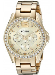 Fossil Women's Riley Champagne Dial Gold Tone Watch ES3203