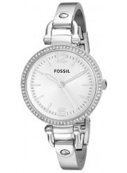 Fossil Women's Georgia Silver Dial Silver Tone Watch ES3225