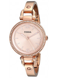 Fossil Women's Georgia Rose Dial Rose Gold Tone Watch ES3226