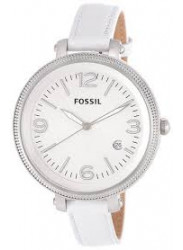 Fossil Women's Heather White Leather Watch ES3276