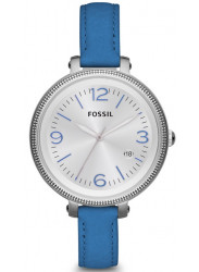 Fossil Women's Heather Blue Leather Watch ES3279