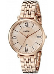 Fossil Women's Jacqueline Rose Gold Tone Watch ES3435