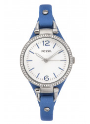 Fossil Women's Georgia Blue Leather Watch ES3470