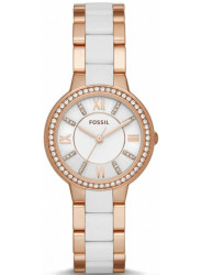 Fossil Women's Virginia Mother Of Pearl Two Tone Watch ES3561