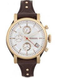 Fossil Women's Original Boyfriend Brown Leather Watch ES3616