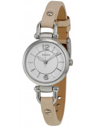 Fossil Women's Georgia Stainless Steel Watch with Leather Band ES3808