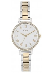 Fossil Women's Kinsey White Dial Two-Tone Stainless Steel Watch ES4449