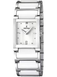 Festina Women's White Dial Two-Tone Ceramic Watch F16536/1