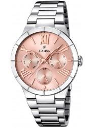 Festina Women's Boyfriend Chronograph Pink Dial Stainless Steel Watch F16716/3
