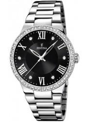 Festina Women's Boyfriend Black Dial Stainless Steel Watch F16719/2