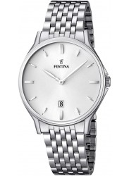 Festina Men's Classic Metal Silver Dial Stainless Steel Watch F16744/2