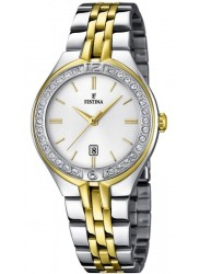 Festina Women's Mademoiselle White Dial Two Tone Stainless Steel Watch F16868/1