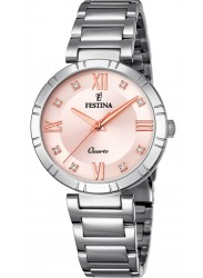 Festina Women's Mademoiselle Pink Dial Stainless Steel Watch F16936/C