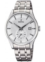 Festina Men's Retro Silver Dial Stainless Steel Watch F20276/1