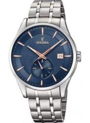 Festina Men's Retro Blue Dial Stainless Steel Watch F20276/2