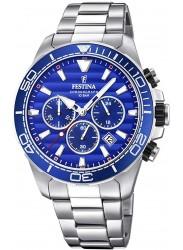 Festina Men's Prestige Chronograph Blue Dial Stainless Steel Watch F20361/2