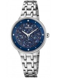 Festina Women's Mademoiselle Blue Crystal Dial Stainless Steel Watch F20382/2