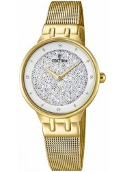 Festina Women's Mademoiselle White Crystal Dial Gold Stainless Steel Watch F20386/1