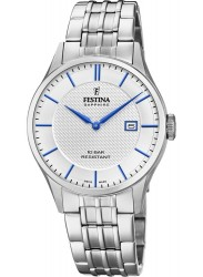 Festina Men's Swiss Made White Dial Stainless Steel Watch F20005/2