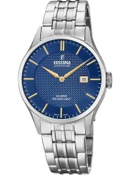 Festina Men's Swiss Made Blue Dial Stainless Steel Watch F20005/3