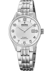 Festina Women's Swiss Made White Dial Stainless Steel Watch F20006/1