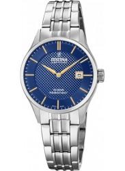 Festina Women's Swiss Made Blue Dial Stainless Steel Watch F20006/3