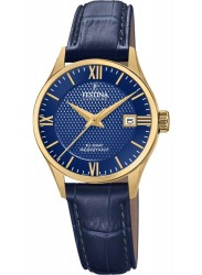 Festina Women's Swiss Made Blue Dial Blue Leather Watch F20011/3