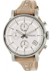 Fossil ES3625 Women's Boyfriend Silver Leather Quartz Watch