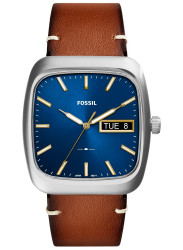 Fossil Men's Rutherford Blue Dial Brown Leather Watch FS5334