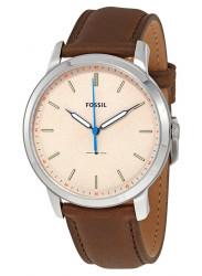 Fossil Men's Minimalist Cream Dial Brown Leather Watch FS5306