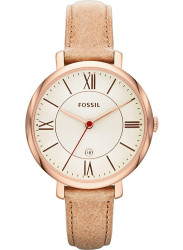 Fossil Women's Jacqueline Camel Leather Watch ES3487