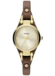 Fossil Women's Georgia Brown Leather Watch ES3264