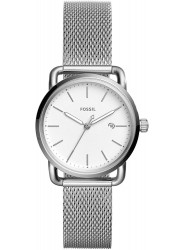 Fossil Women's Commuter White Dial Stainless Steel Watch ES4331