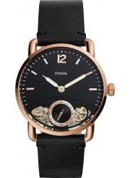 Fossil Men's Commuter Twist Black Dial Black Leather Watch ME1168